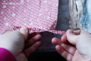 Tear fabric strips
