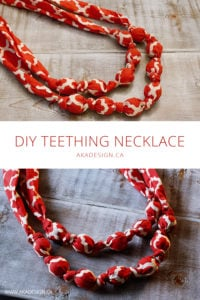 diy teething necklace