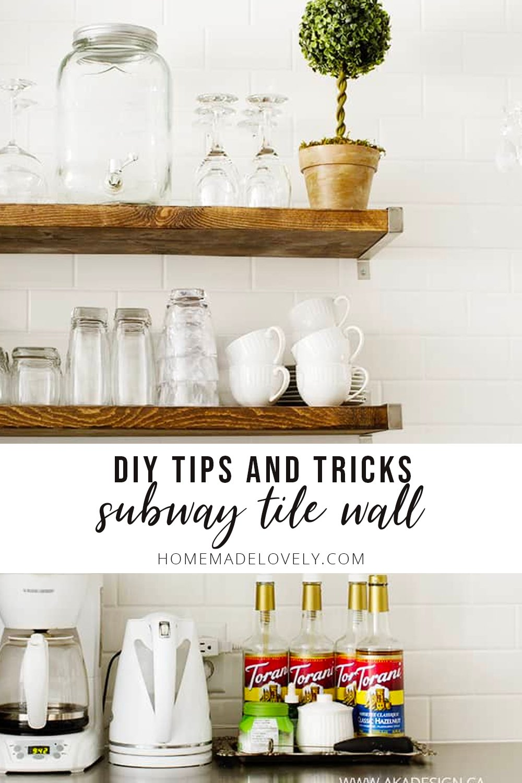 diy tips subway wall in kitchen