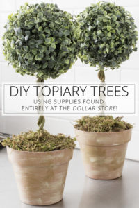 diy topiary trees with dollar store supplies