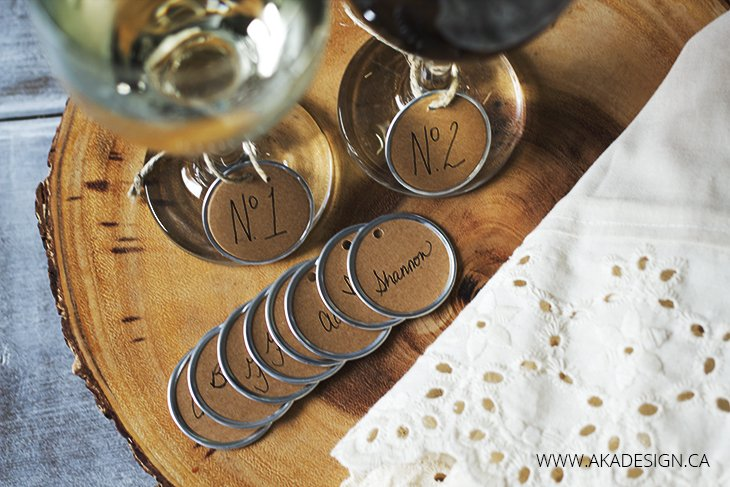 easy rustic wine glass charms