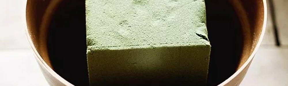 glue floral foam to pot
