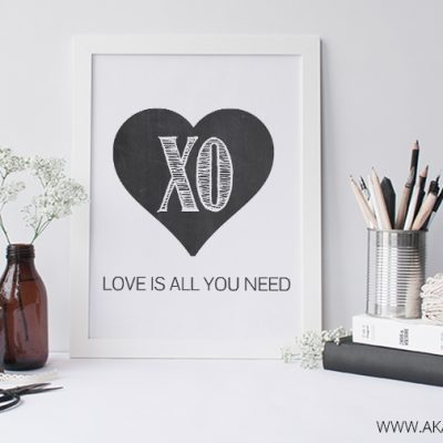 Love is All You Need – Free Printable Art