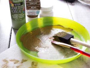 paint for stems and vines diy topiary trees