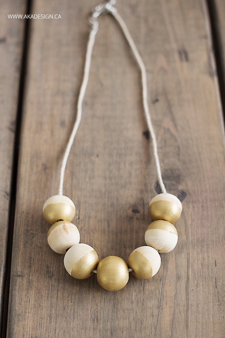 Diy painted wooden bead necklace for How to make a wooden pendant