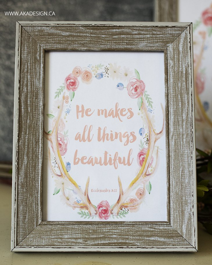 He makes all things beautiful 5x7 framed