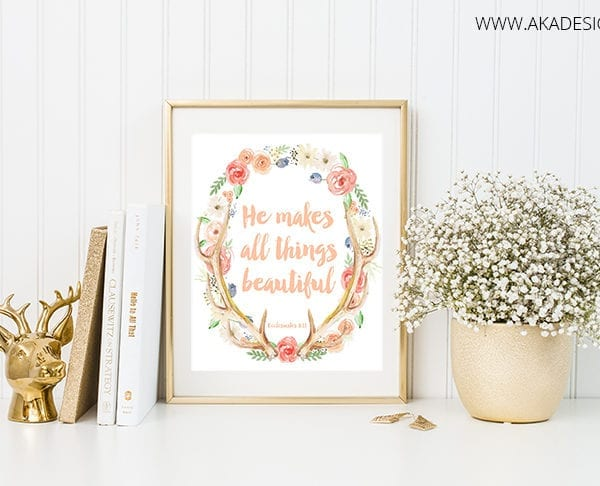 He makes all things new printable