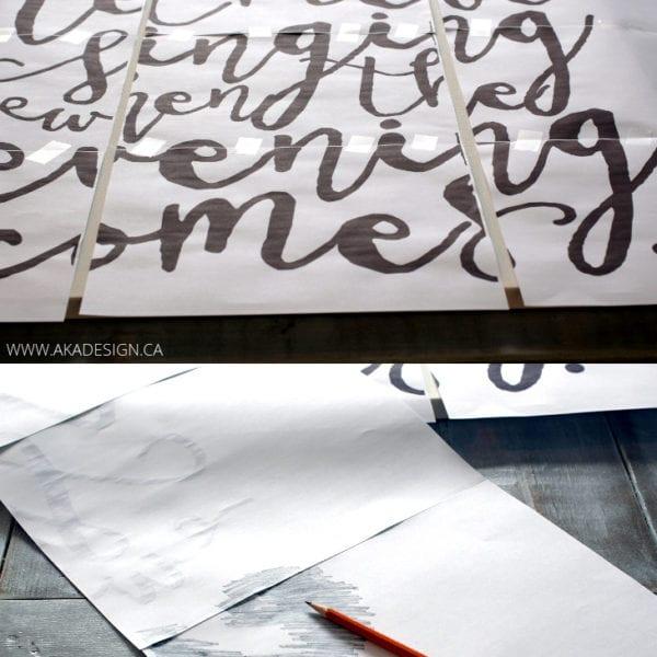 Pencil Transfer Method | www.akadesign.ca