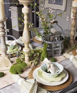 Pretty Spring Table Pretty Easter Table | www.akadesign.ca