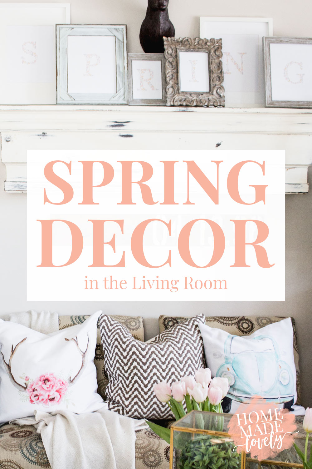 Spring is coming. And since Spring is coming, I decided it was time to do a little Spring decorating in the living room with flowers & moss & color!