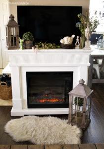 Spring Fireplace Mantel