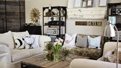 Spring Decorating in the Living Room – Flowers, Moss & Color, Oh My!