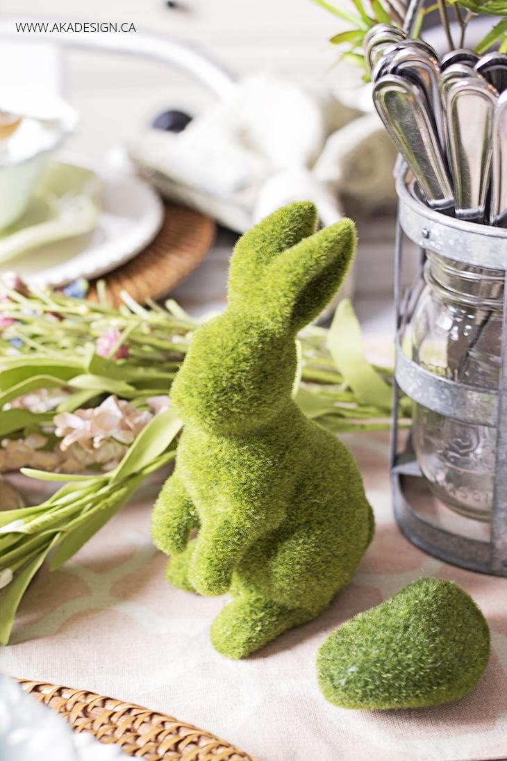Spring Moss Bunny | www.akadesign.ca