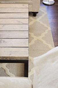coffee table moroccan trellis rug laminate floor