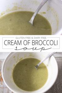 dairy free cream of broccoli soup pin