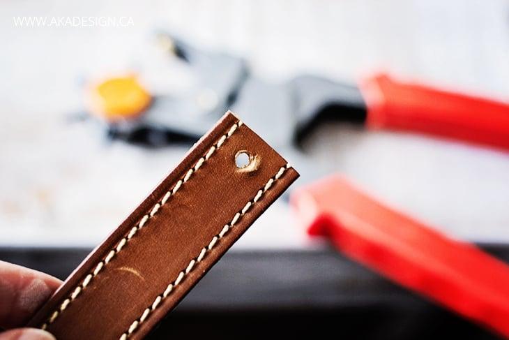 hole in leather bracelet