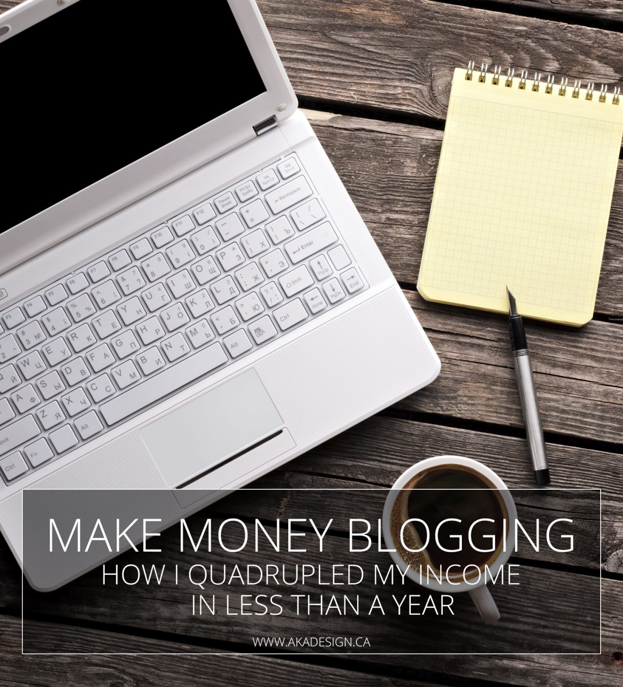 Make money blogging: how I quadrupled my income in less than a year!