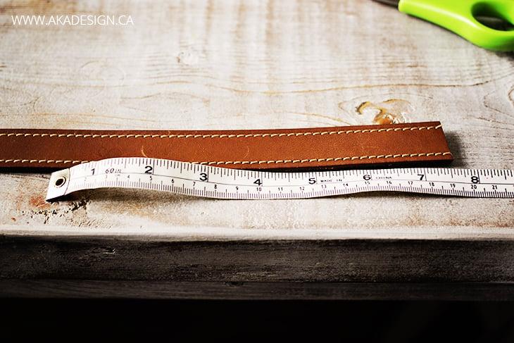 measure leather belt for bracelet