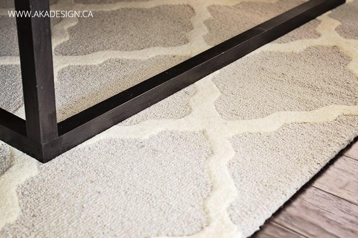 moroccan trellis rug on handscraped laminate floor