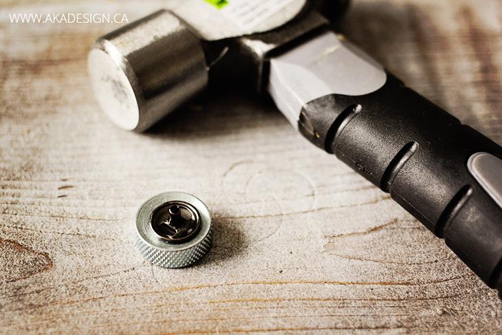 snap and rivet anvil and ball pein hammer