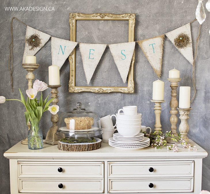 Perfectly Styled Spring Buffet Display from AKA Designs  |  Friday Favorites at www.andersonandgrant.com