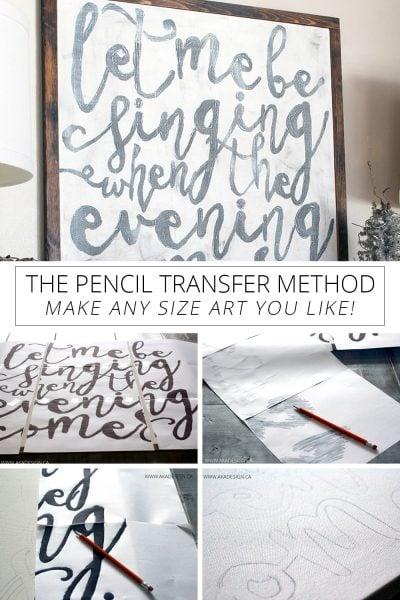 Pencil Transfer Method – How to Easily Create Art