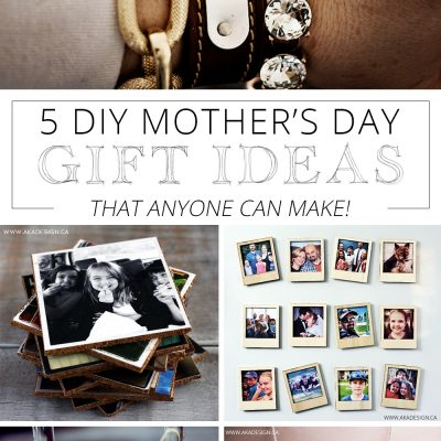5 Personalized DIY Mother's Day Gift Ideas Anyone Can Make