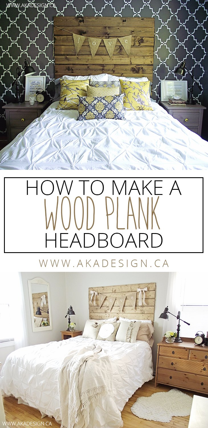 How to make a wood plank headboard for How to make a headboard