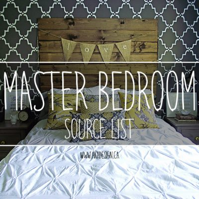 Our Master Bedroom Source List