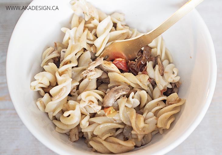 Rice Pasta with veggies