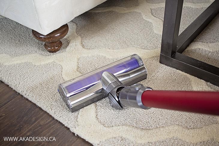 Vacuuming the Rug