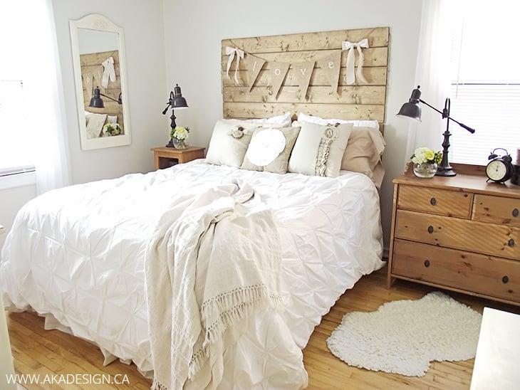 aka design bungalow master bedroom wood headboard