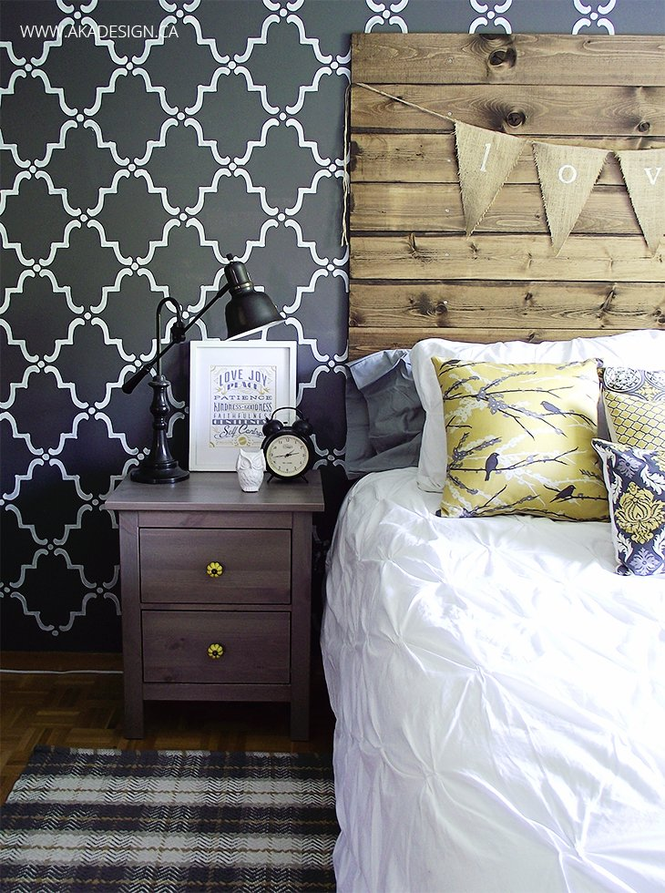 How to make a wood plank headboard for How to make a wood pallet headboard