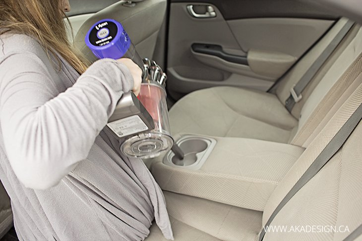 kids cleaning car with dyson absolute