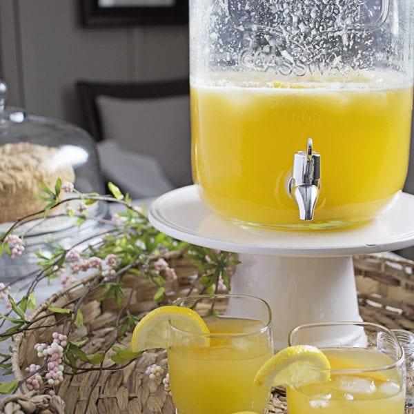 peach lemonade punch