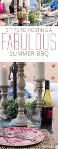 3 TIPS TO HOSTING A FABULOUS SUMMER BBQ