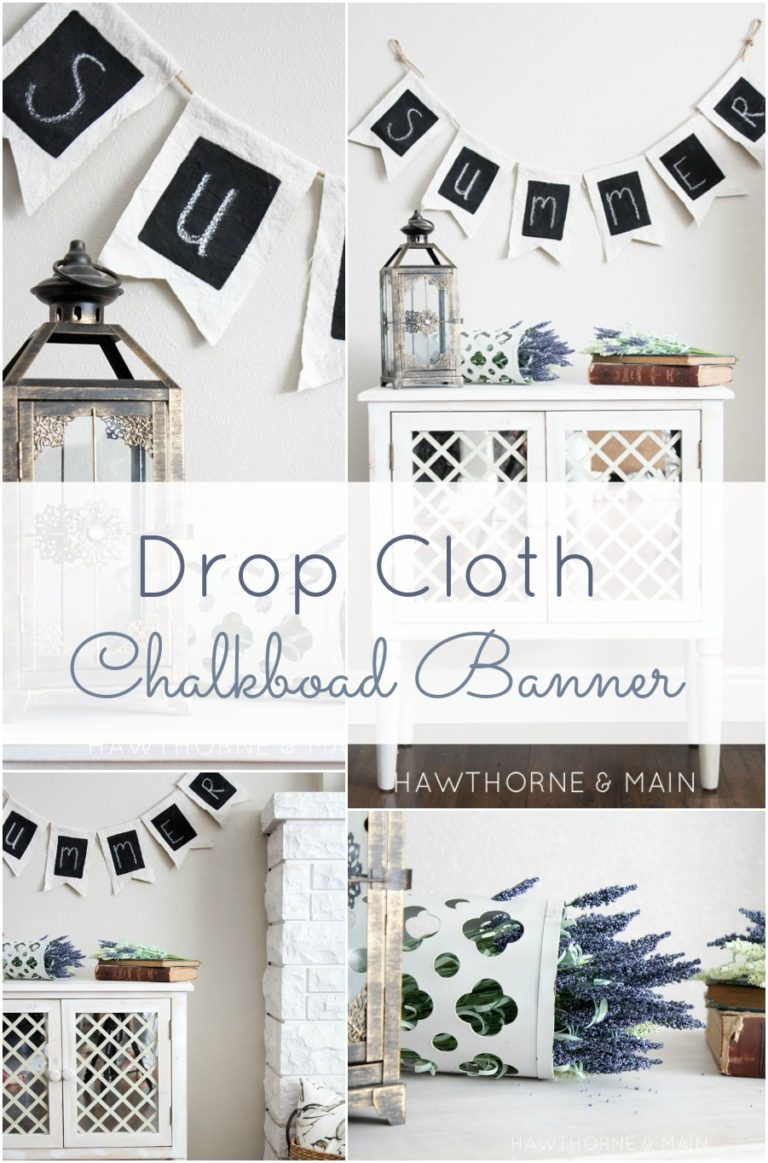 Make Your Own Drop Cloth Chalkboard Banner