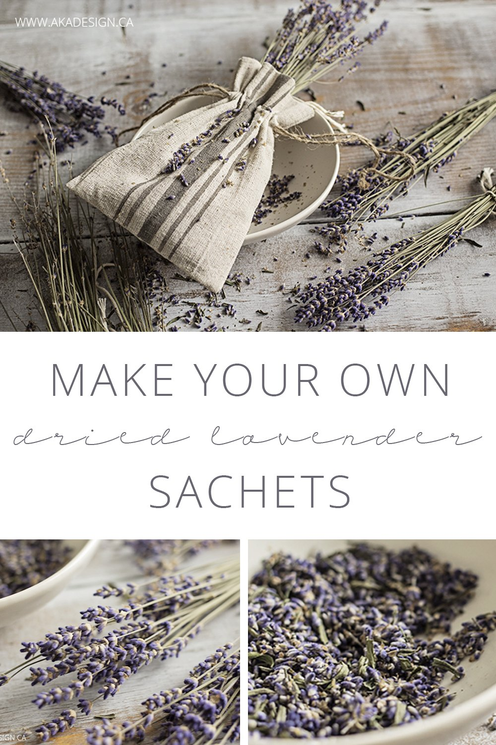 Make your own dried lavender sachets