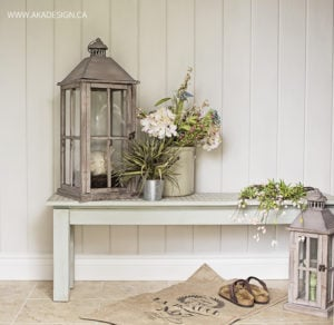 decoart chalky finish painted bench