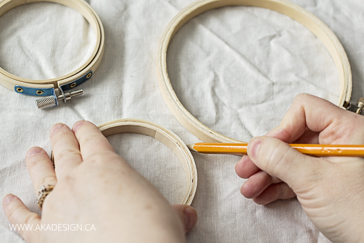 Tracing Embroidery Hoops for Art