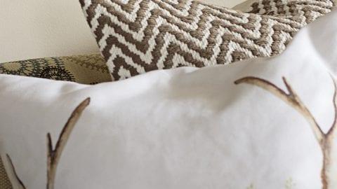 Quick Antler Embroidery Hoop Art
