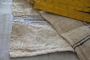 french grain sack stripes