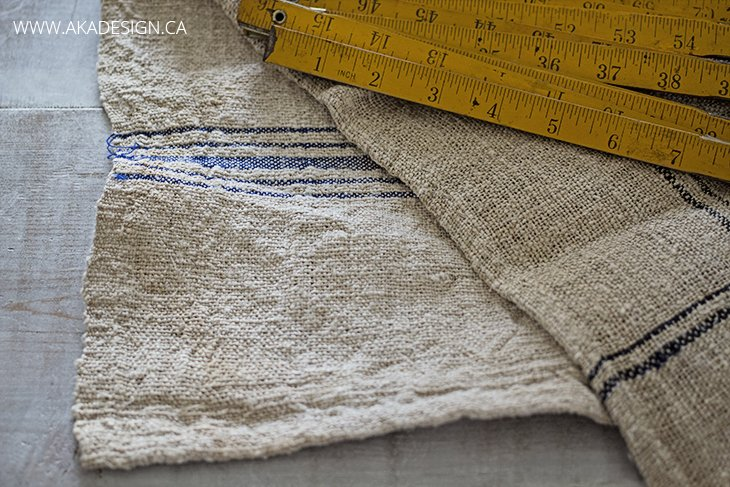 french grain sack stripes