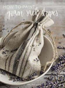 how to paint grain sack stripes pin