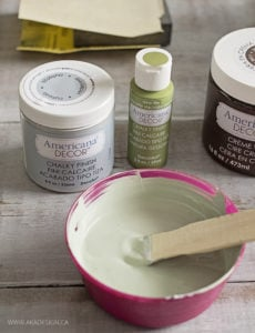 mix chalky finish yesteryear and new life paint