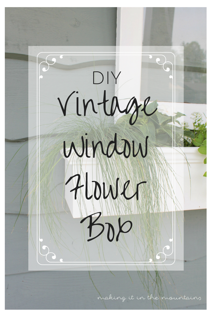 Vintage Window Flower Box