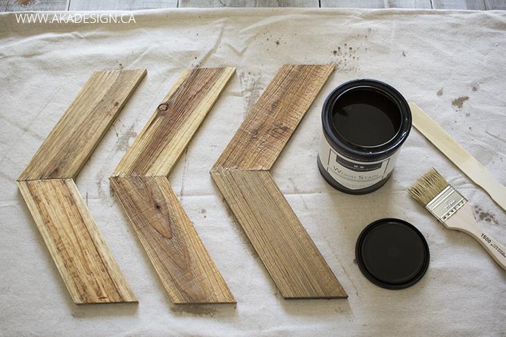 applying weatherwood stain