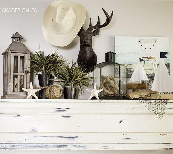 Coastal Summer Mantel Styling + 11 Ideas for Your Coastal Style Decorating