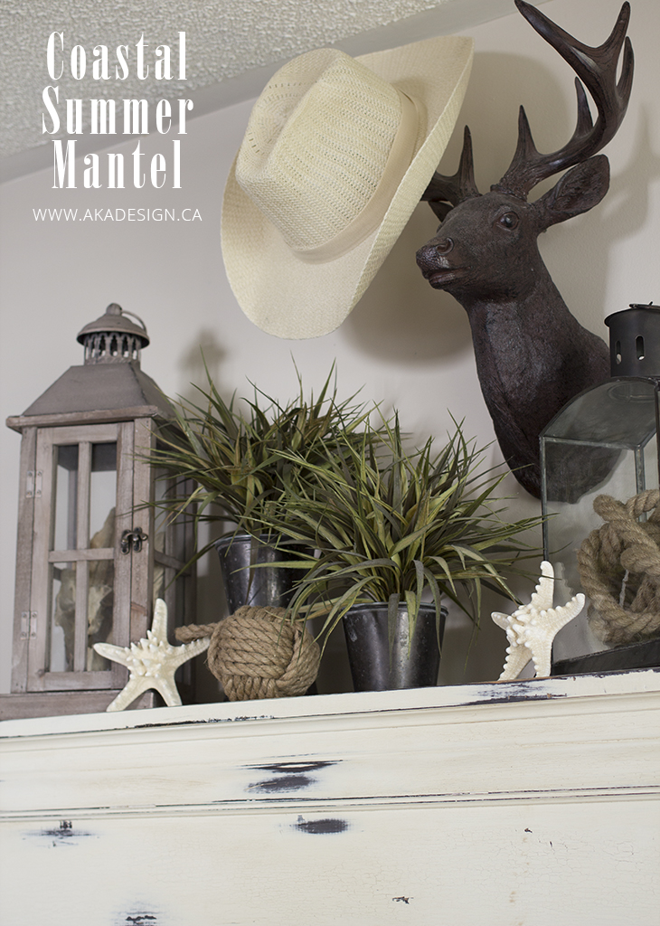 coastal summer mantel side
