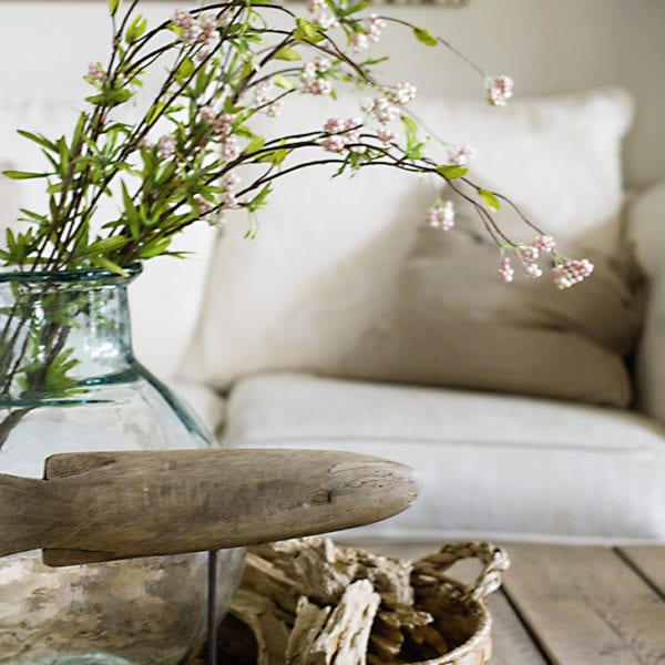 coffee table center piece beach cottage
